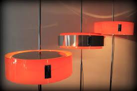Tafellamp Vloerlamp Oranje Eglo Gepatineerd Glas Geel Gebrande