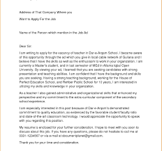 Sample Teaching Cover Letter How Tos Teacher Letters Example Bunch