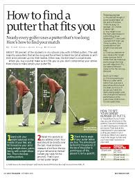 How To Fit A Putter Chart Club Fitting How To Find A Putter That Fits You