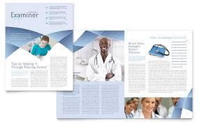 Free Newsletter Layouts Nursing School Hospital Newsletter Design Template By