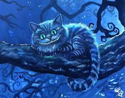 cheshire cat painting cheshire cat by tom carlton