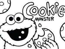 Cookie Monster Coloring Sheets Cookies Coloring Pages C Is For