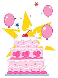 girl birthday cake clip art.  Birthday Free Birthday Cake Clip Art Image Three Tier Pink For That  Special Girl On I
