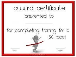 Fun Run Certificate Template Trinity Fun Run Virtual Cubicle Certificate Templates