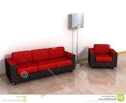 red leather sofa loveseat arm chair stylish floor lamp royalty free sofas valencia and