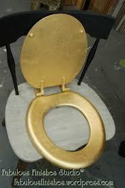 gold foil toilet seat. gilding a toilet seat, gold leaf, shop.fabfinisher.com, fabulous finishes foil seat r