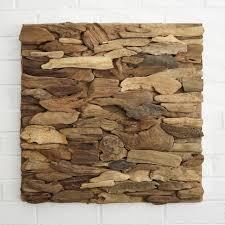 driftwood wall art panel horizontal pattern