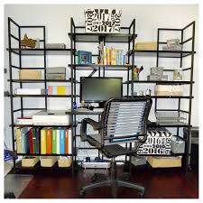Declutter home office Clean This Colorful Home Office Was Decluttered And Organized For Clear Workspace Suddenly Simple Professional Organizing Suddenly Simple Organizing Home Offices Suddenly Simple