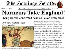 example of a newspaper article norman invasion battle of hastings newspaper article y3 4 example text