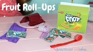 american girl diy fruit roll ups craft