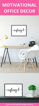 inspirational office decor. Black And White Motivational Office Decor. This Scandinavian Style Inspirational Quote Will Motivate You To Decor