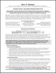 Example investment banking #resume - page 1