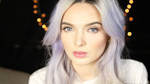 everyday make up pale skin lilac hair tutorial step by step