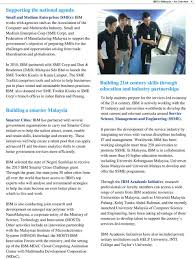 IBM in Malaysia An Overview - PDF