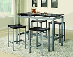 metal dining room furniture. coaster 5piece metal dining set with 4 barstools silverblack room furniture d