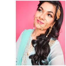 turquoise indian bridal makeup