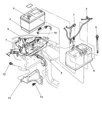 1997 dodge dakota battery tray cables diagram 00i67748