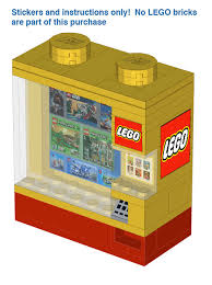 Lego Vending Machine Amazing LEGO™ Vending Machine Instructions And Stickers Home