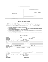 Pleading Paper Format Printable Pro Se Pleading Form Legal Pleading Template
