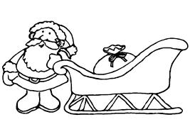 Kleurplaat Kerstman Met Slee Afb 8657 Images