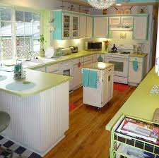 retro kitchen lime green counters