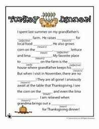 bie thanksgiving themed mad lib middle school high school  thanksgiving mad lib turkey dinner