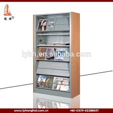 Library Book Display Stands Customized 100 Layer Steel Book Display Rack School Library Metal 98