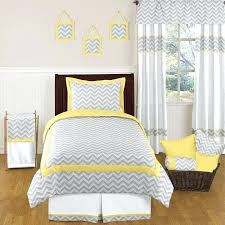 white gray and yellow bedding yellow and gray chevron and kids bedding twin set by sweet white gray and yellow bedding intelligent design yellow grey