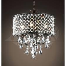 beautiful bronze crystal chandelier 4 light round antique brass drum with crystals