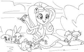 Rainbow Rocks Coloring Pages With My Little Pony Equestria Girls