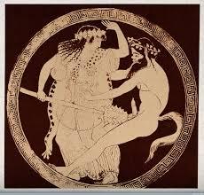 Картинки по запросу древнегреческая краснофигурная керамика  дно кубков