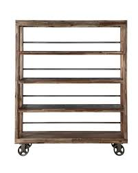 58 Bookcase Casters, Swivel Oak Bookcase On Casters At 1stdibs ...