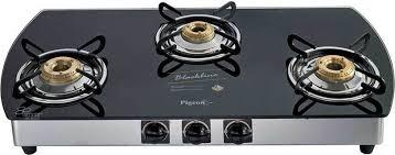 Pigeon Blackline Oval SS Gas Stove 3 Burner price in India