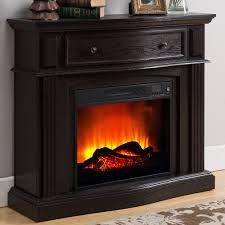 prokonian electric fireplace with 44 mantle with storage espresso com