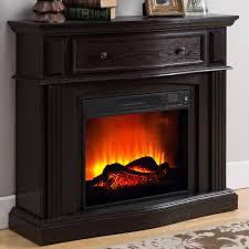 prokonian electric fireplace with 44 mantle with storage pr04 espresso com