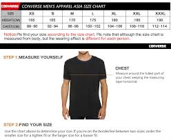 Converse Us Size Chart Us 42 0 30 Off Original New Arrival 2019 Converse Embroidered Wordmark Tee Mens T Shirts Shirt Short Sleeve Sportswear In Running T Shirts From