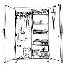 wardrobe clipart.  Wardrobe Wardrobe With Clothes Throughout Wardrobe Clipart T
