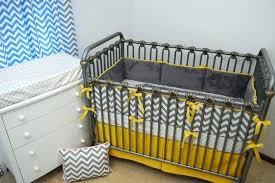 yellow and grey crib bedding chevron baby gray owl nursery sets