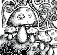 Trippy Coloring Page Colouring Pages Mushroom Enjoy Coloring Trippy