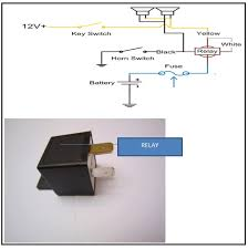 bad relay found in kia car (pride) electronics repair and how to install aftermarket horn button at Car Horn Wiring Diagram