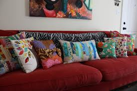 decorative pillows for red couch