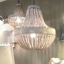 pottery barn beaded chandelier white wood bead chandeliers old wooden with distressed po pottery barn beaded chandelier