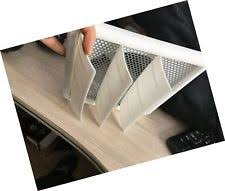 5 inch louvered dryer air vent cap cover with bird guard metal screen white