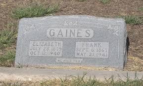 """Elizabeth Franklin """"Betty"""" Elliott Gaines (1879-1940) - Find A ..."""