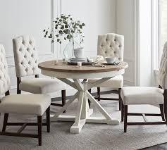 hart reclaimed extending pedestal dining table