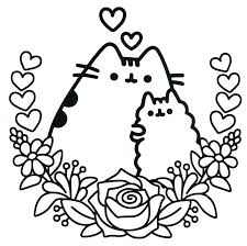 Pusheen Coloring Pages Getcoloringpagescom