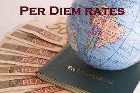 Per Diem Chart Per Diem Financial Business Services