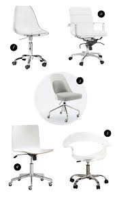 white modern office chair white rolling. Full Size Of Furniture:white Swivel Button Tufted Rolled Back Desk Chair Fabulous 31 Office White Modern Rolling