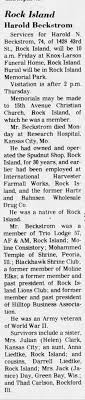 Beckstrom line - cousin of Janice Carlson - DAY - Newspapers.com