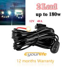 popular harness bars buy cheap harness bars lots from china Eyourlife Wiring Harness eyourlife led light bar wiring harness kit 12v 40amp 180w fuse relay on off switch eyourlife light bars wiring harness